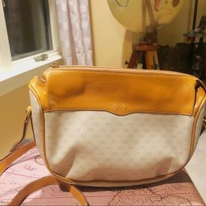 Gucci Monogram Cross Body Bag Purse GG Cream